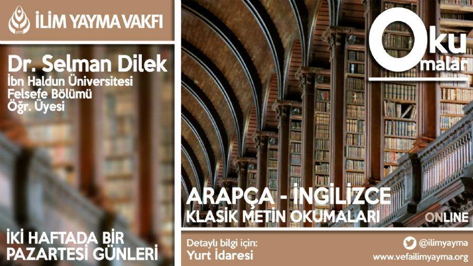 Klasik Metin Okumaları - İYV Vefa Lisans Yurdu